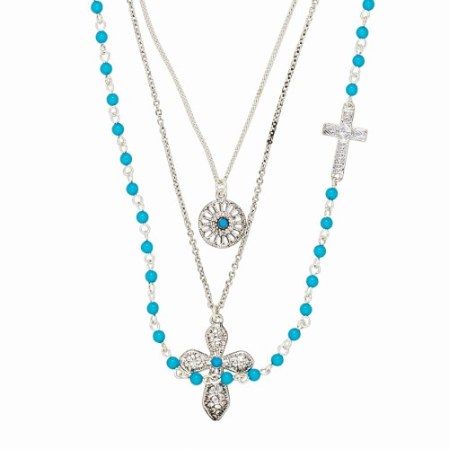 Turquoise Rosary Necklace