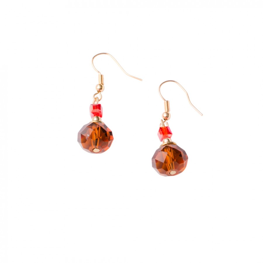 Gypsy Glass Gold Topaz Drop Fishhook Earrings