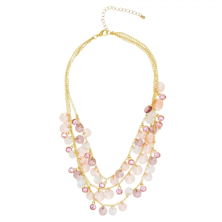 Pink Droplets Necklace