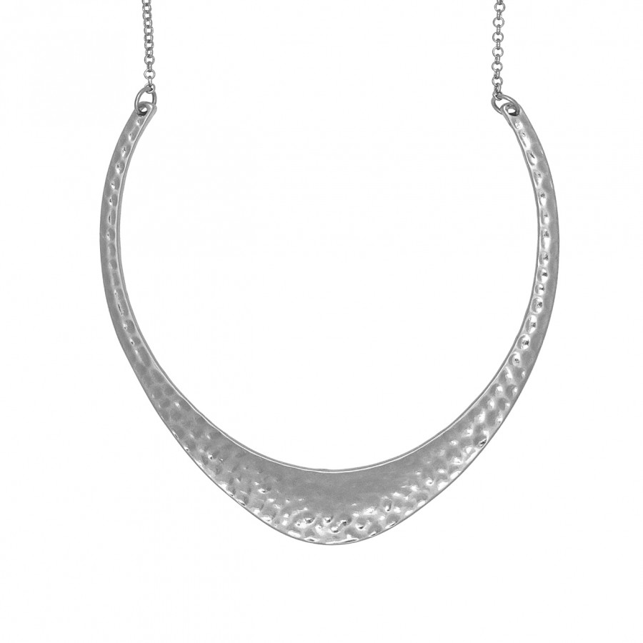 Boomerang Silver Necklace