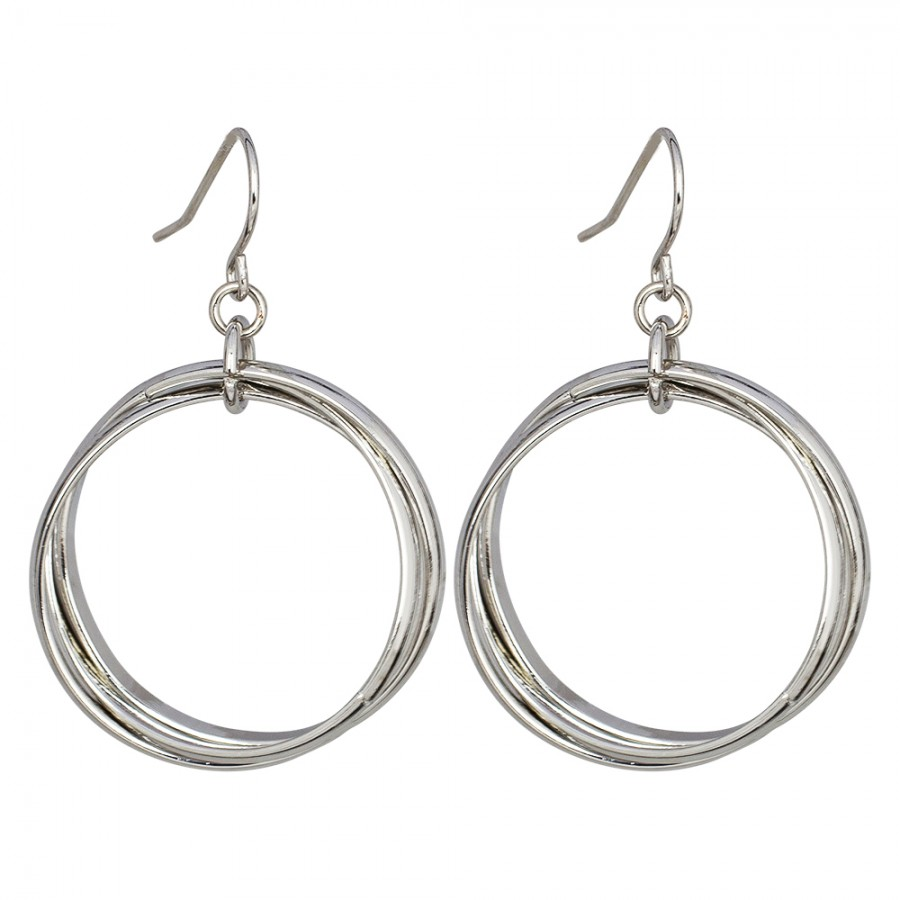 Ring Around Silver Earrings