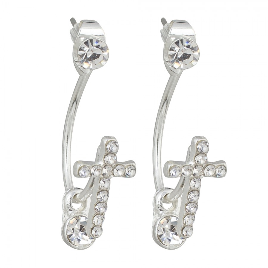 Peek-A-Boo Cross Earrings