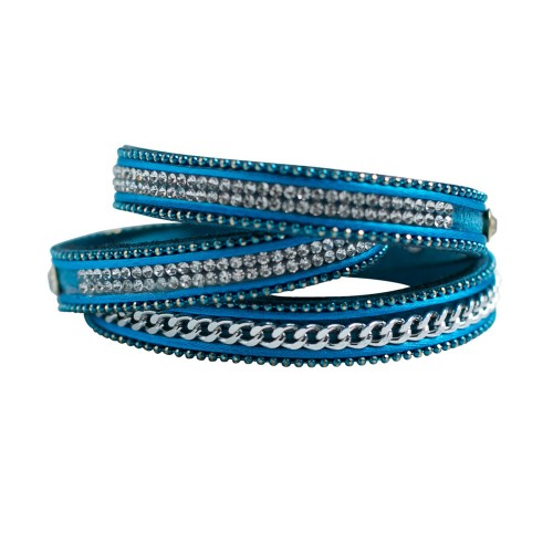 Wrap It Up Suede Turquoise Bracelet