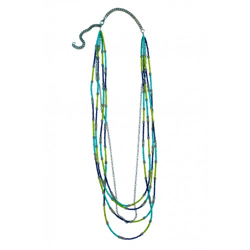 Seascape Tonal Blue and Green Necklace