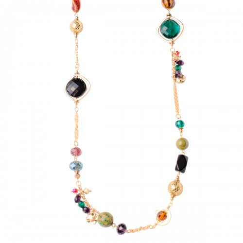 "Gypsy Glass Multi-Color 30"" Necklace"