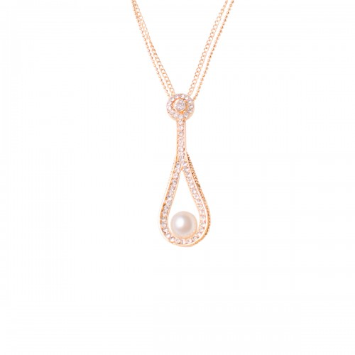 Crystal Looped Necklace