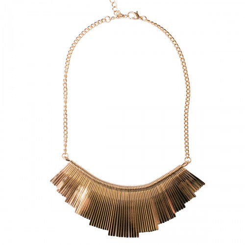 Lashes Textured Metal Fringe Necklace