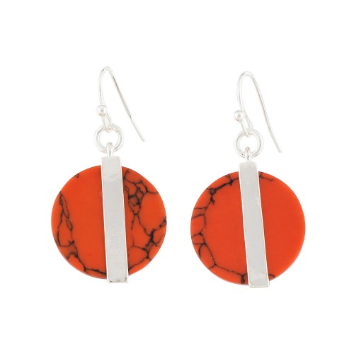 Coral Social Circle Earrings