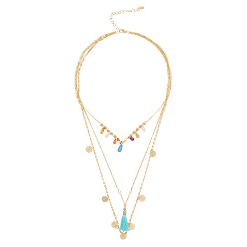 Fringe Fest 3-Row Necklace