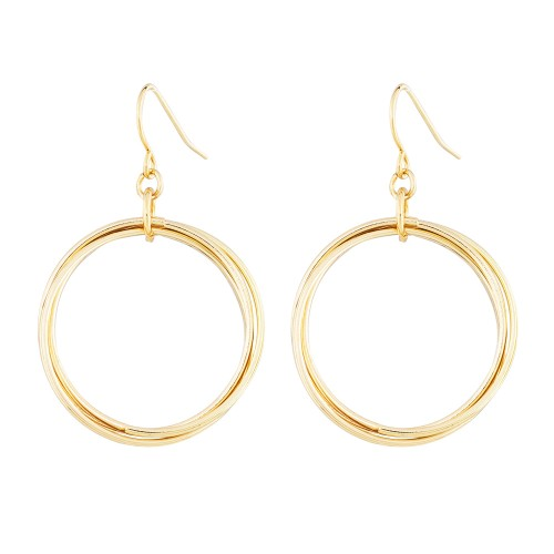Ring Around Gold Earrings
