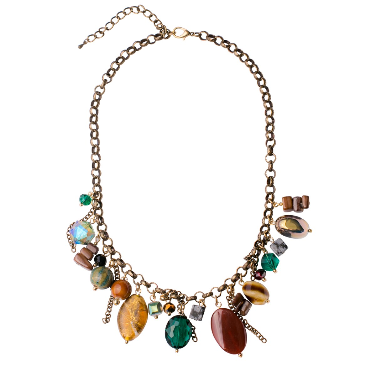 Pumpkin Spice Burnished Gold Necklace