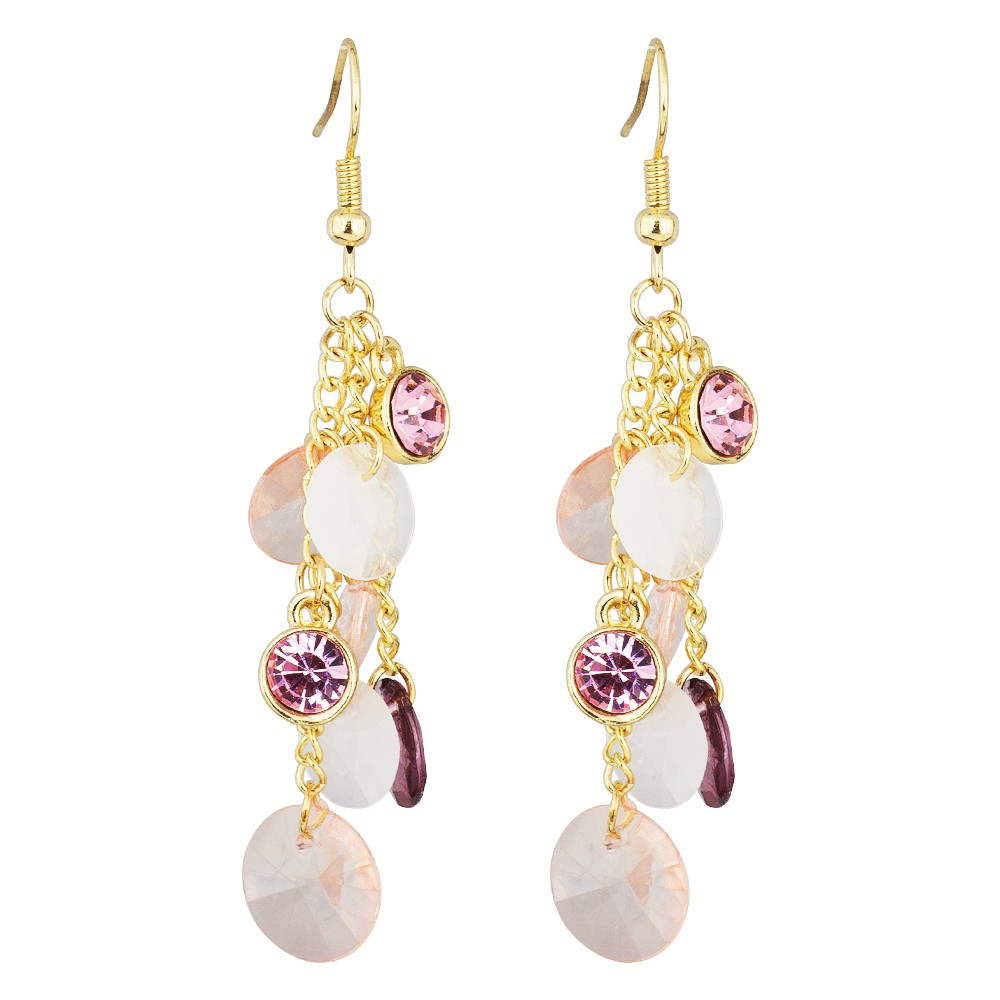 Pink Droplets Earrings