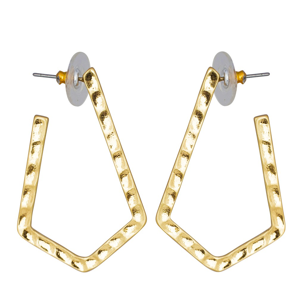Boomerang Gold Earrings
